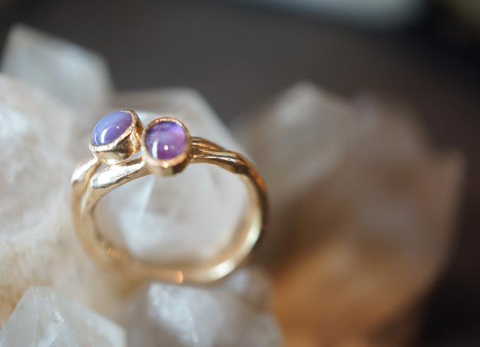 Kali ring met edelsteen 2